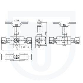 Ball valve PN 250