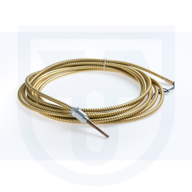 Resistance temperature sensor with cable outlet for plastic applications, with high mechanical resistance